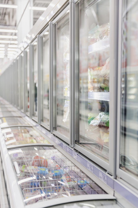 grocery store cooler save energy